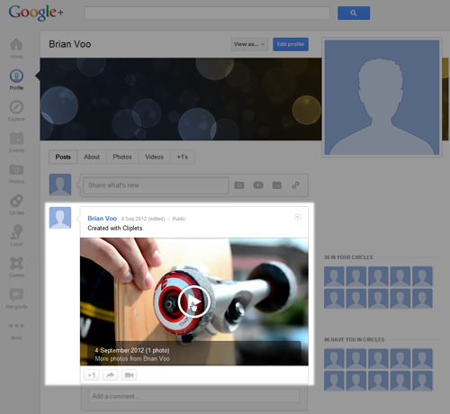 Google+ Profile Video