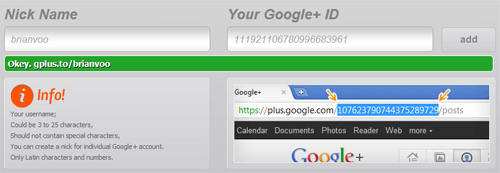 Google+ Nick