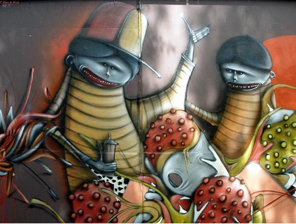 graffiti and wall paintings