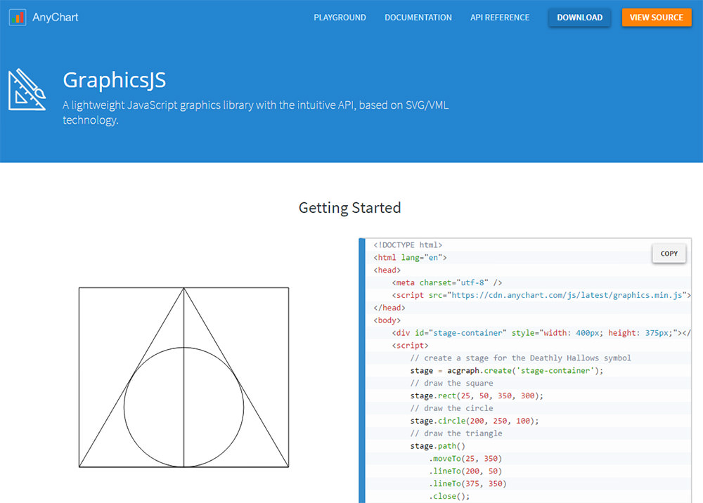graphics js homepage