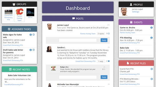 Groupiful Dashboard