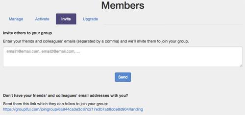 Inviting Members