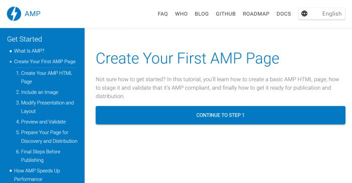Create Your First AMP Page
