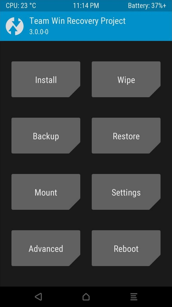 Click Install button in TWRP