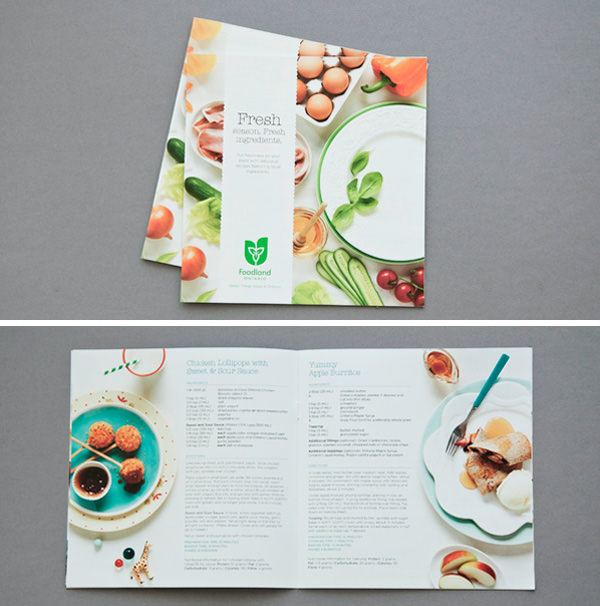 50 beautiful printed brochure designs for your inspiration hongkiat foodland spring recipe book 2012 forumfinder Gallery
