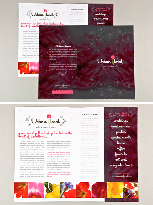 Beautiful Printed Brochure Designs For Your Inspiration Hongkiat - Beautiful brochure templates