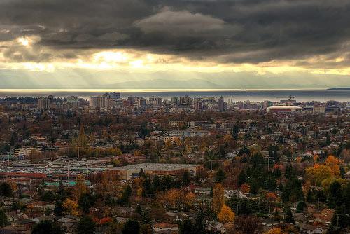 Victoria B.C Skyline from Mount Tolmie