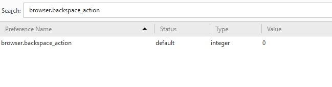 Unmap Backspace Key setting
