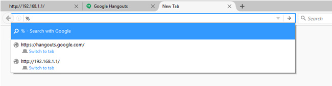 Awesomebar with Open Tab Filter