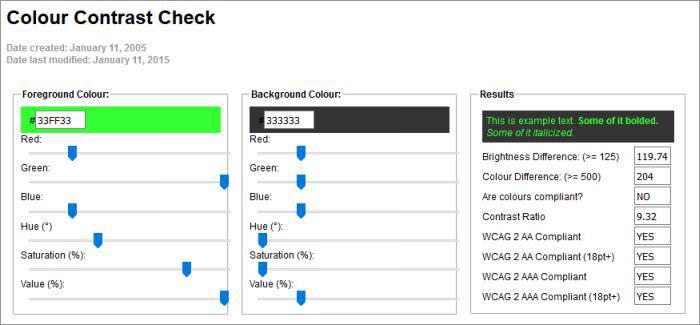 Snook Colour Contrast Check