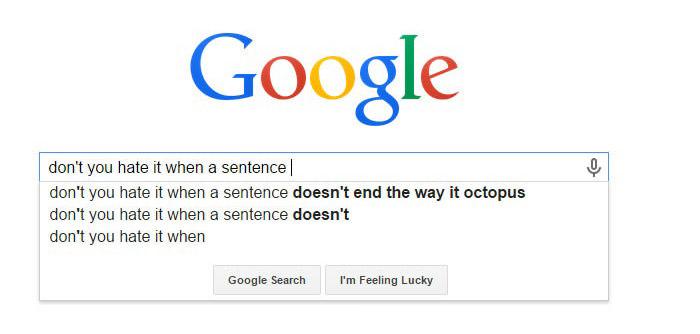 funny google serp