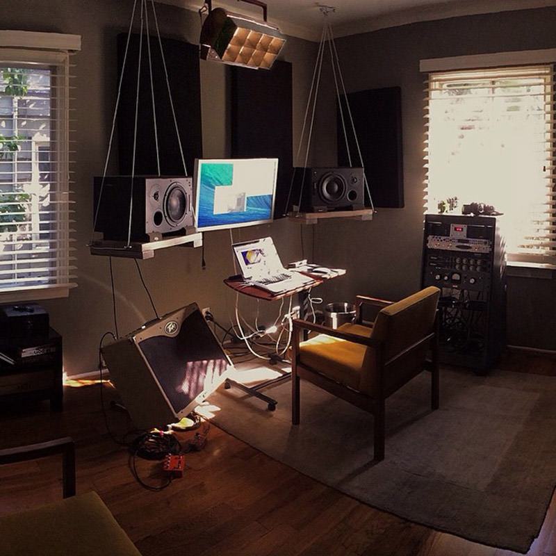 a bachelors home office
