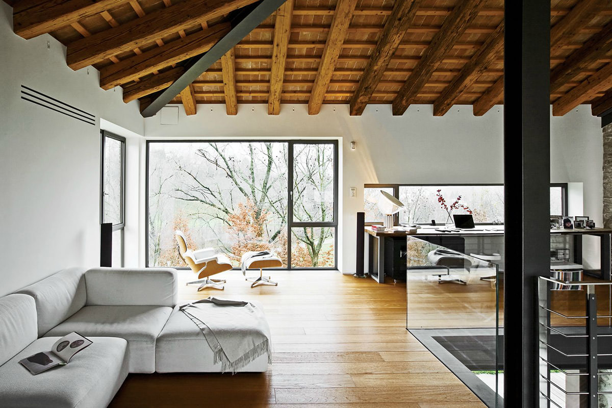 modern home office designs. Renovated Farmhouse Office. This House In Northern Italy Combines A Minimalist Yet Modern Design Home Office Designs