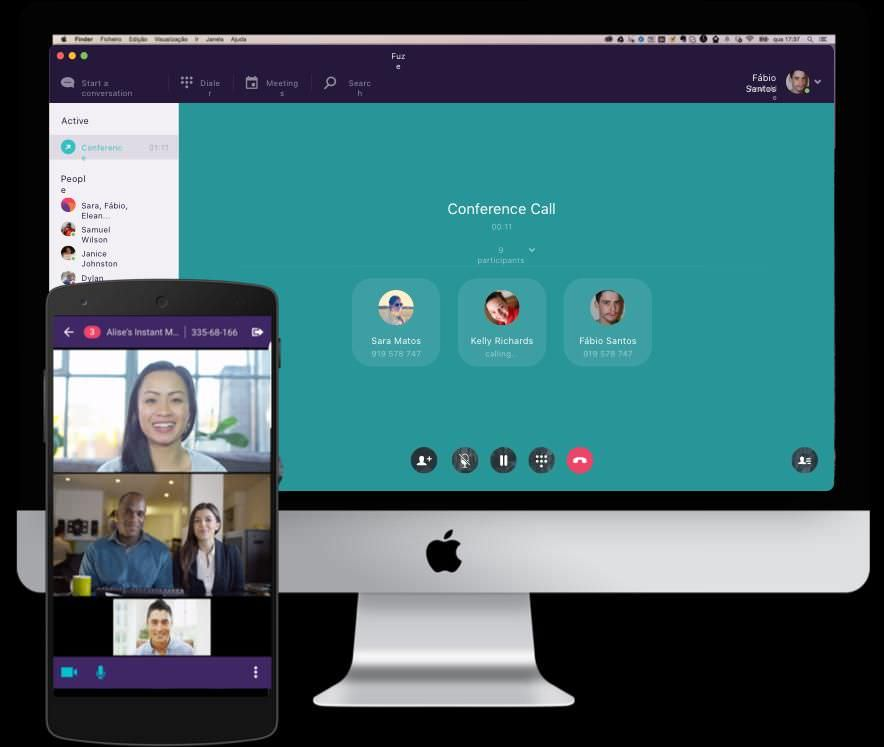 Fuze's video conference window