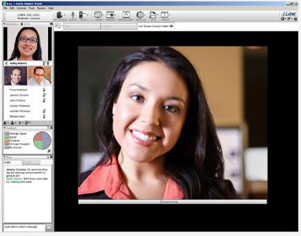 iLinc's video conferencing screen