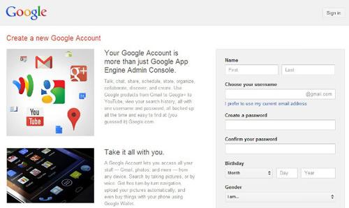 host-website-google-server