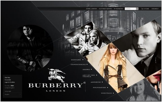 Burberry revamped website
