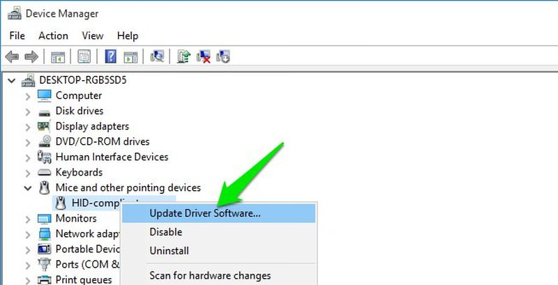 update mouse driver
