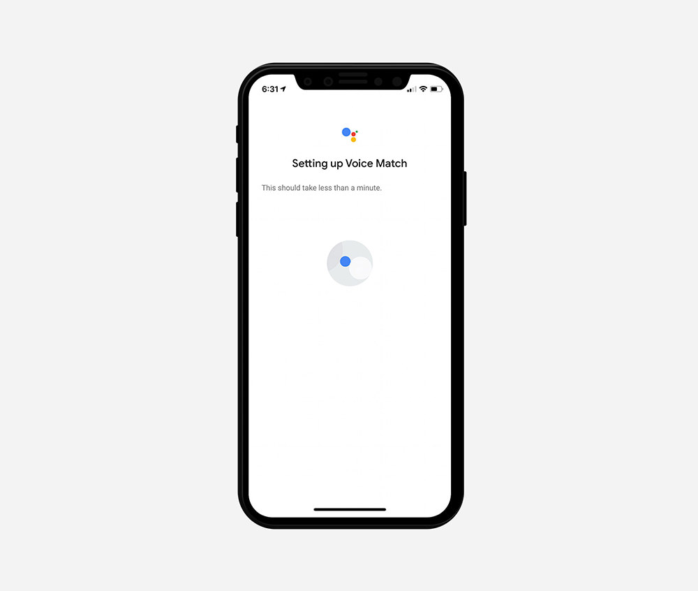 google home voice matching
