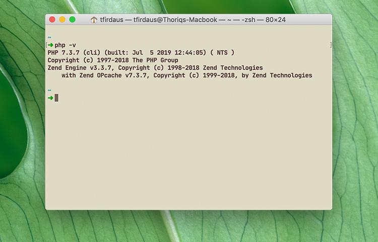 بررسی ورژن php در macOS - کدفرند، دوست برنامه نویس من