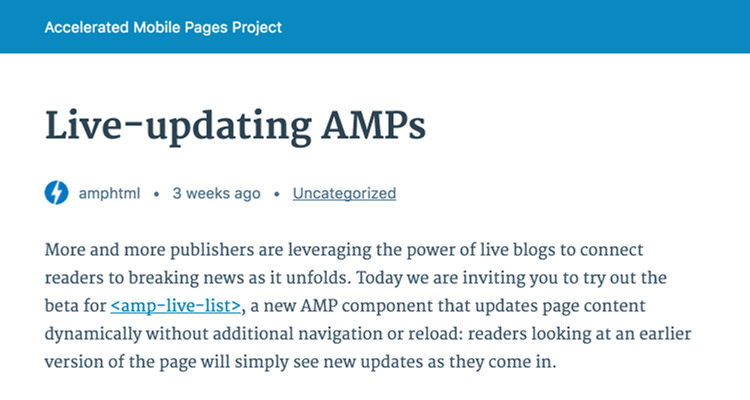 Basic styling of AMP post