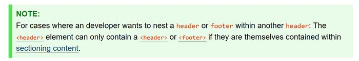 W3C note about header nesting