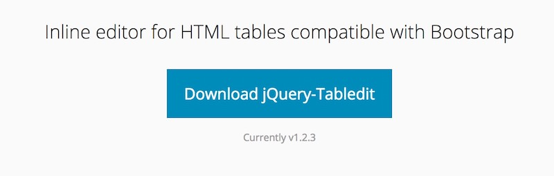 jquery-tabledit