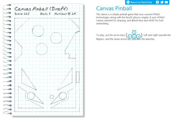 Canvas Pinball