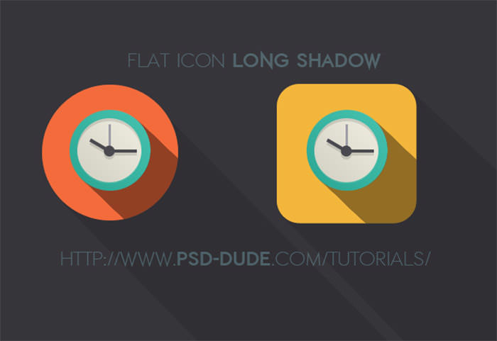 long-shadow-flat-icon