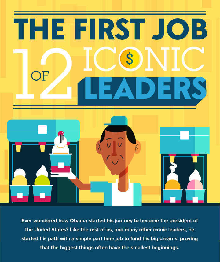 First job of iconic leaders