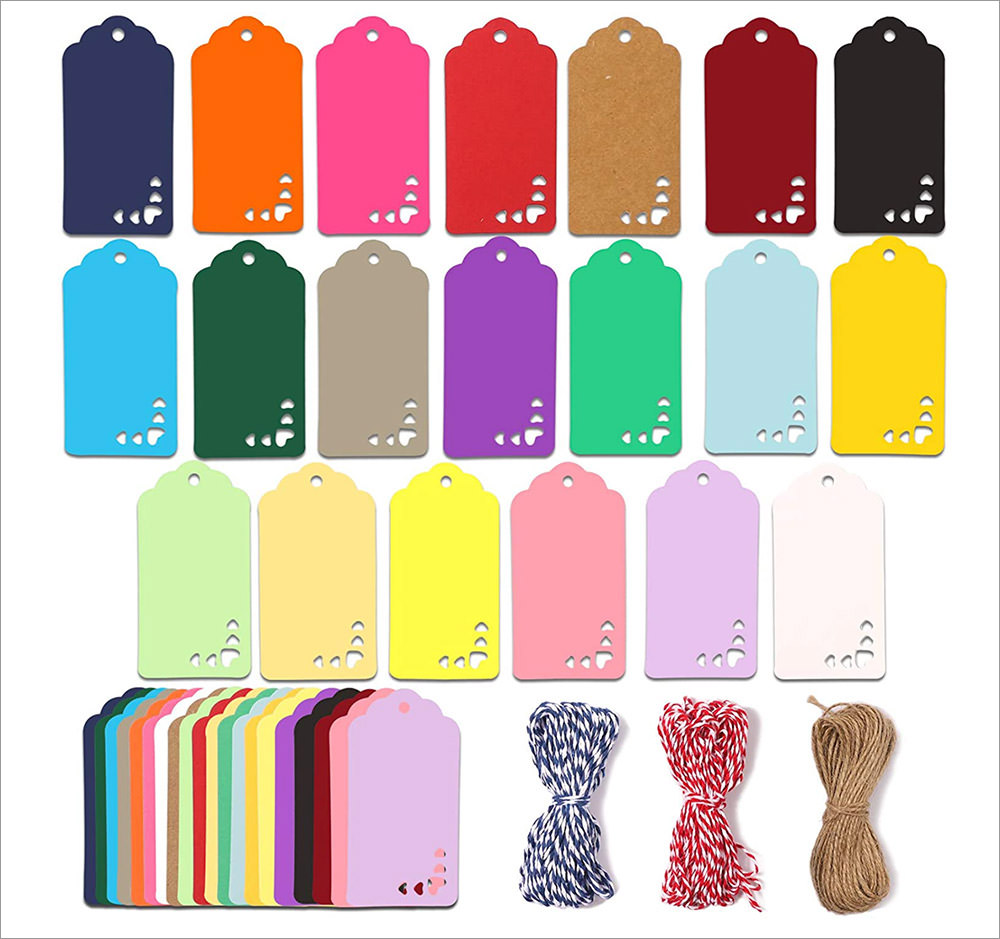 20 Colors Gift Tags