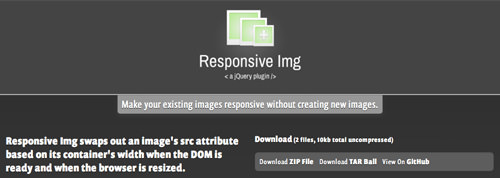 Responsive Image Plugin jQuery open source download