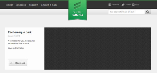 Subtle Patterns website design layout thumbnails