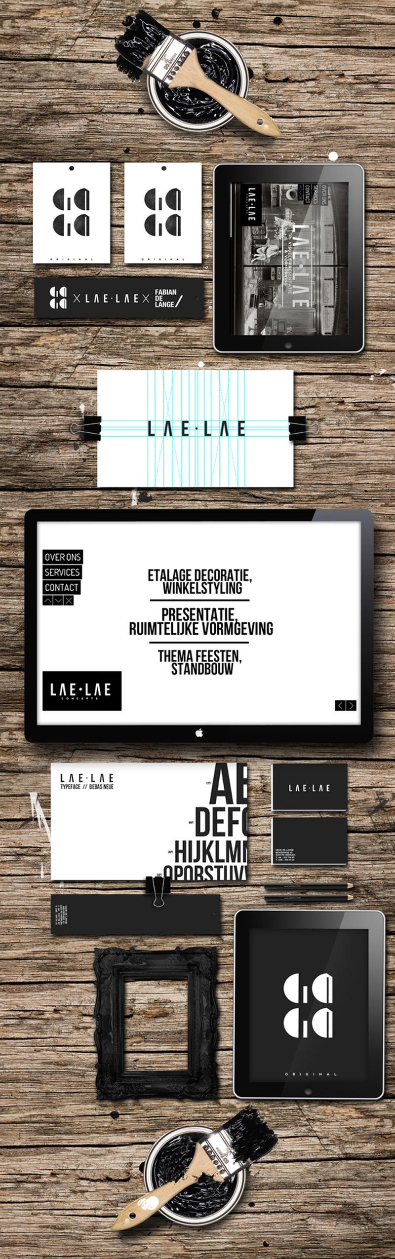 Ejemplos de identidad de marca: LAE