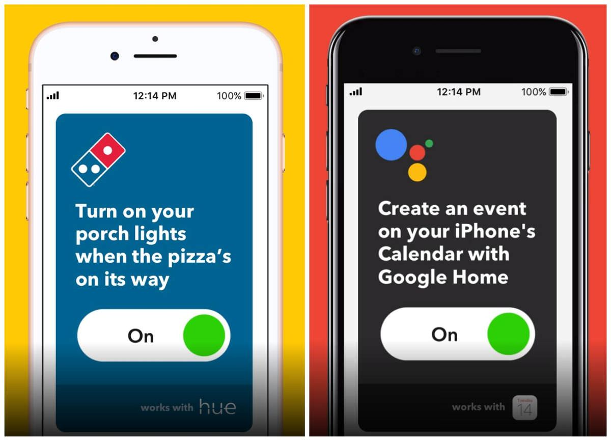 IFTTT Applets or Recipes for Android and iOS