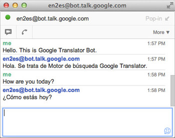 Gtalk Translator Bot