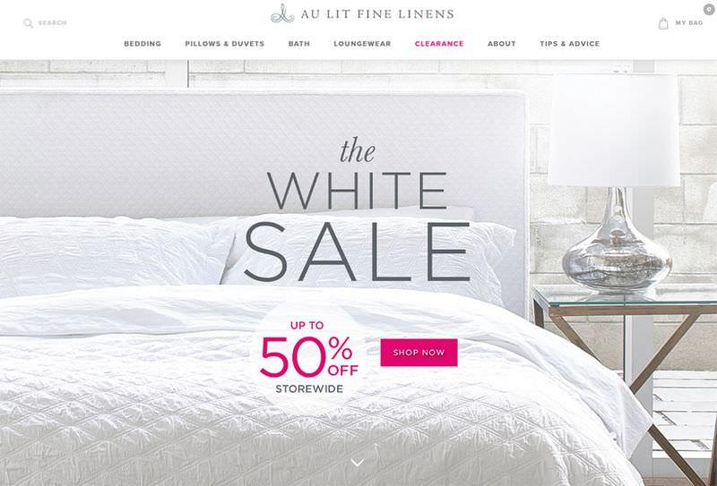 Au Lit Fine Linens Home Page