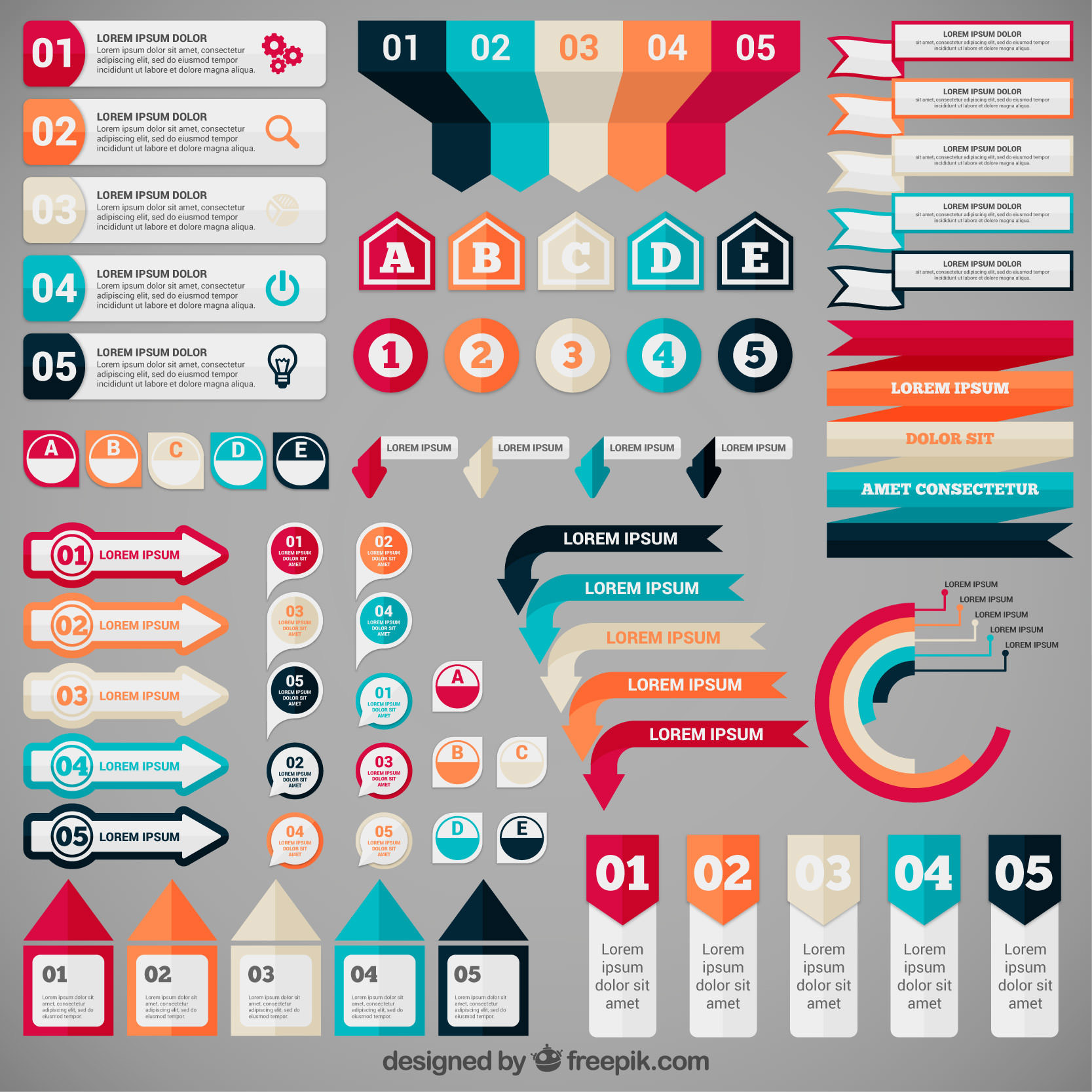 infographic banner freebie set #1