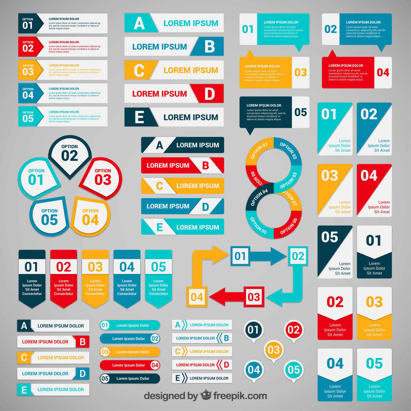 infographic banner freebie set #3