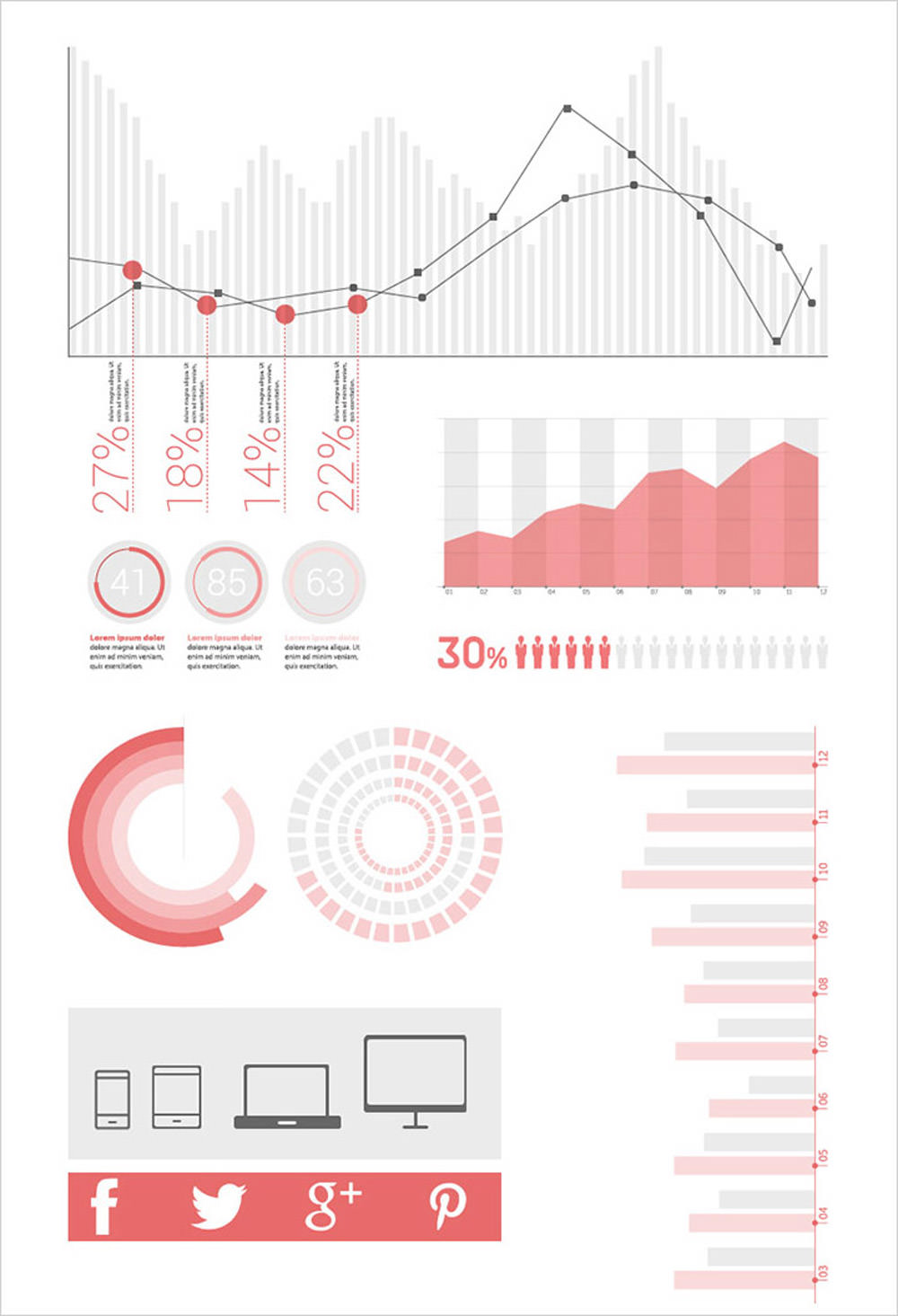 Free Flat Infographic Elements