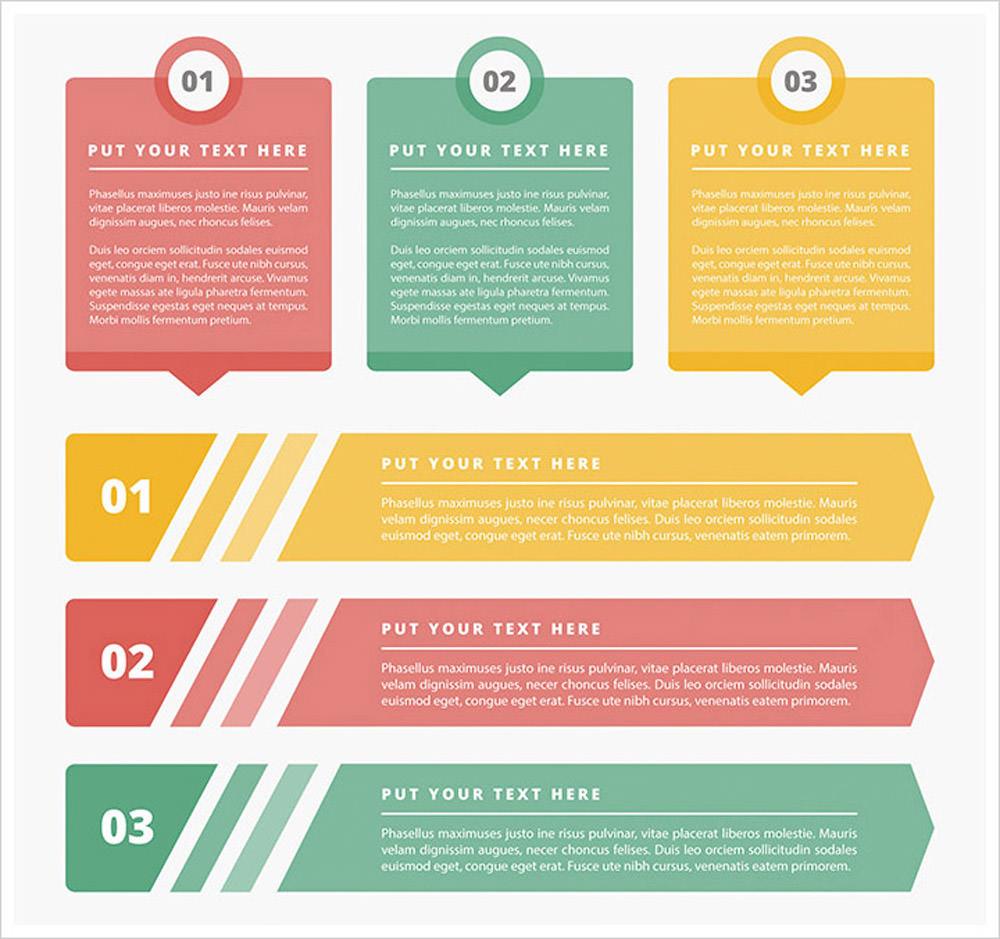 Four Color Infographics Kit