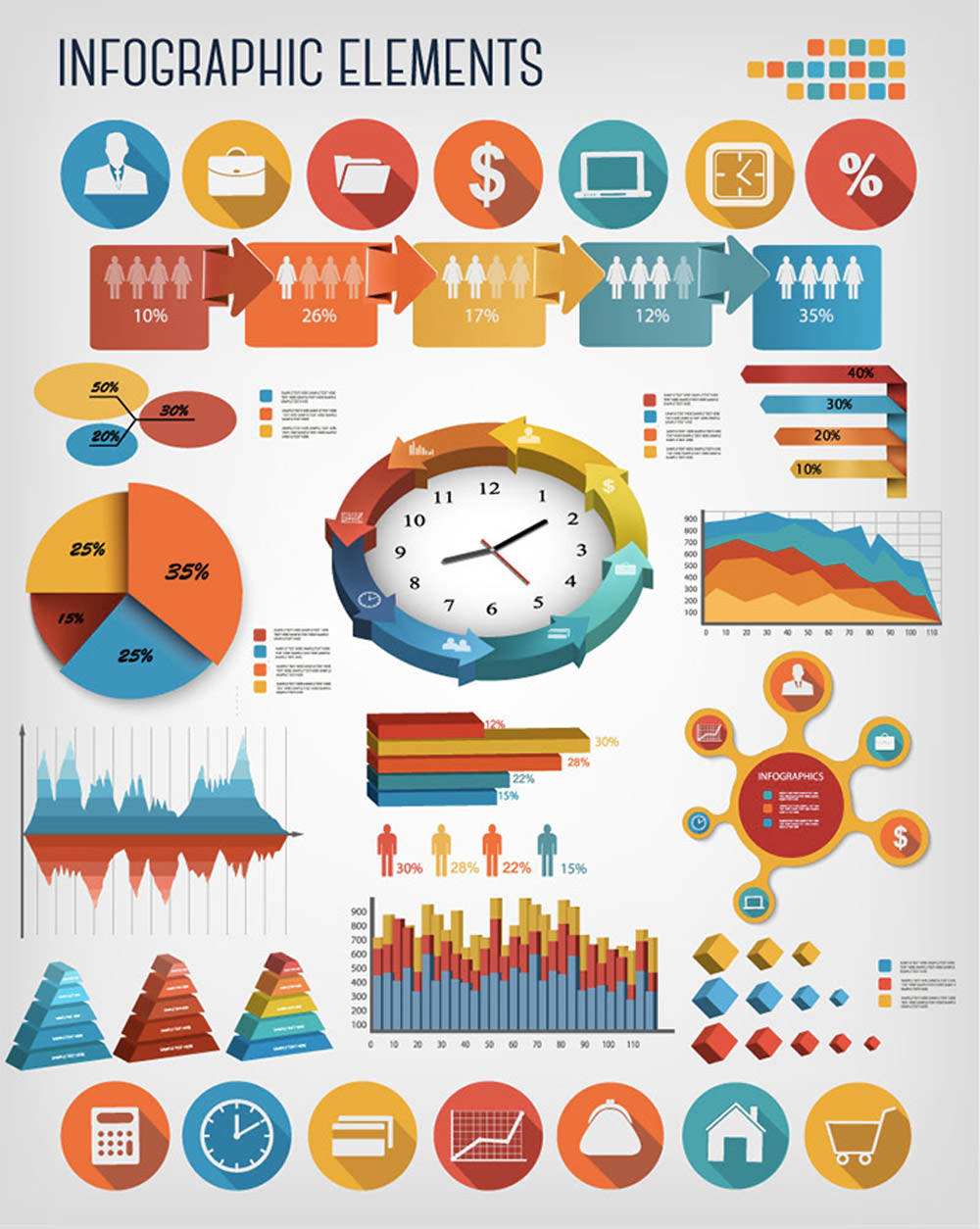 Business Infographics Vector Elements