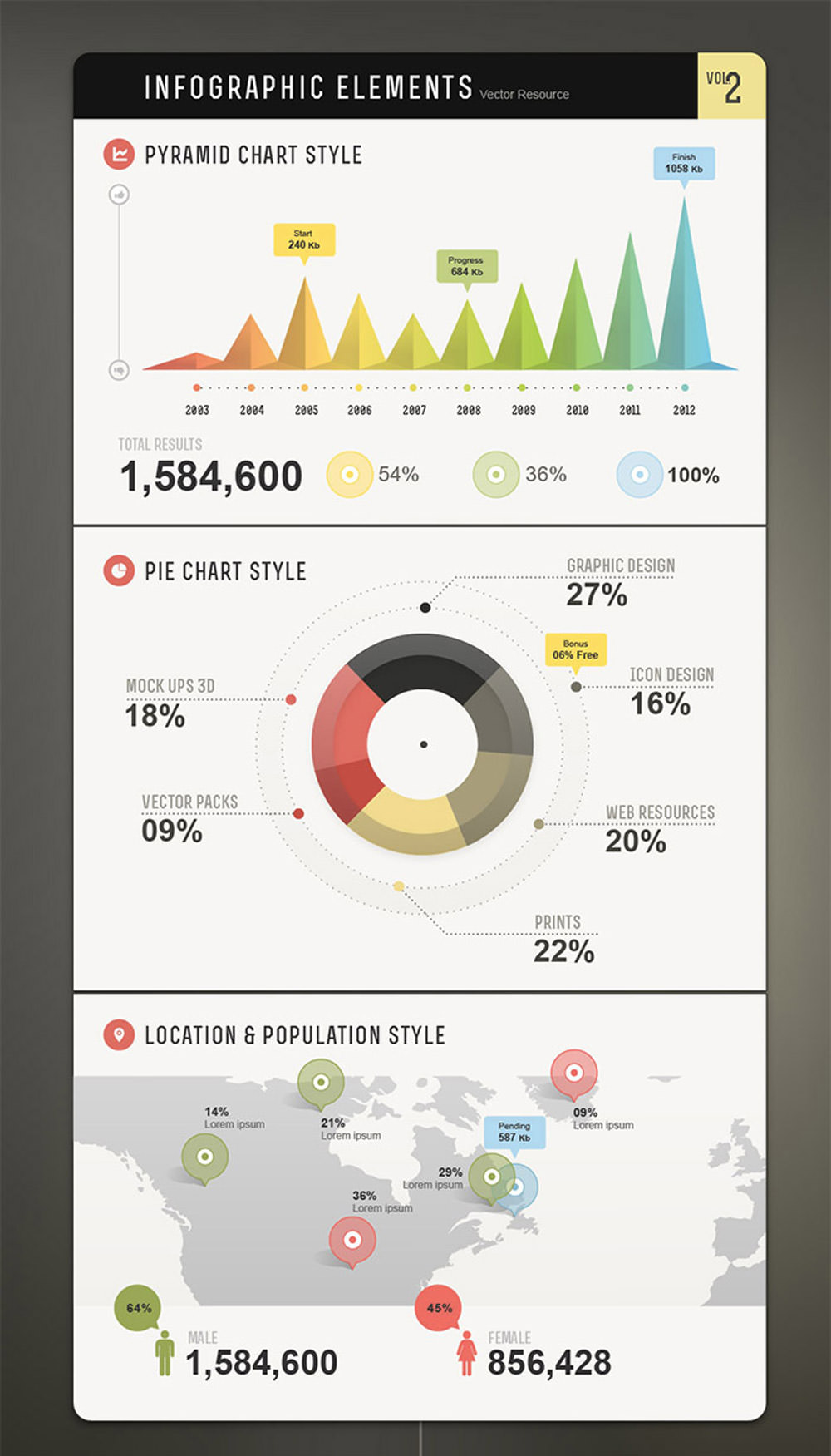 Infographic Vector Elements Vol2