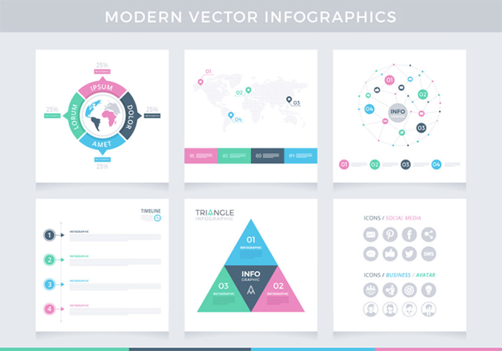 Modern Vector Infographics Pack