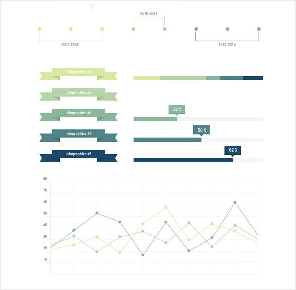 Universal Subtle Infographic Elements