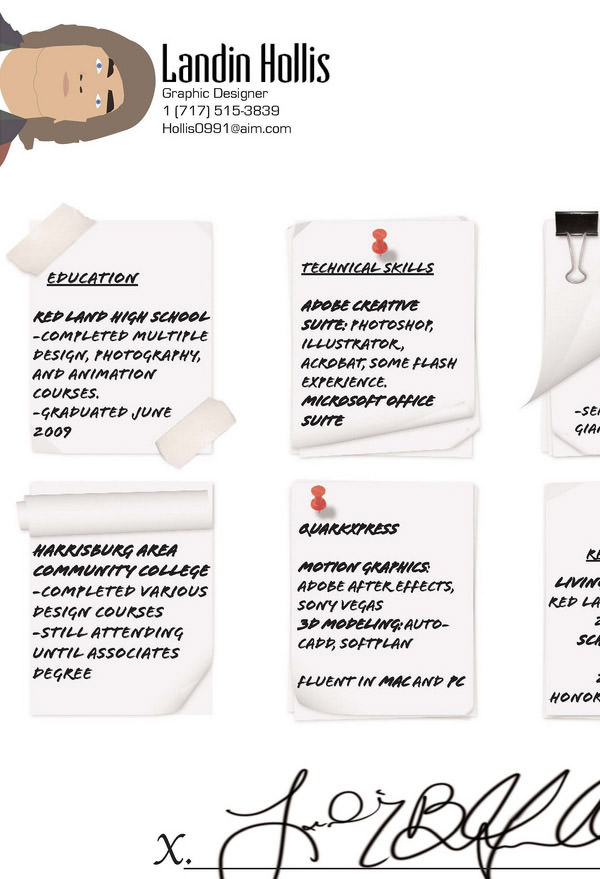 Land your dream job with 25 innovative resume ideas hongkiat altavistaventures Images