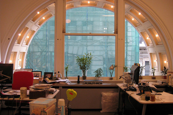 nyc office window arch