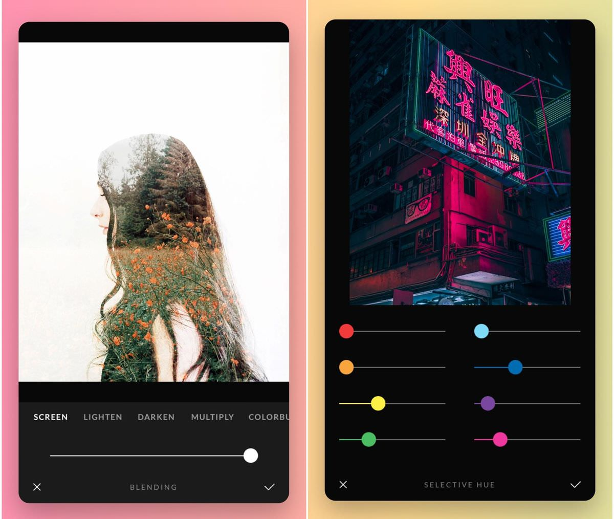 Afterlight - an image-editing app for iOS