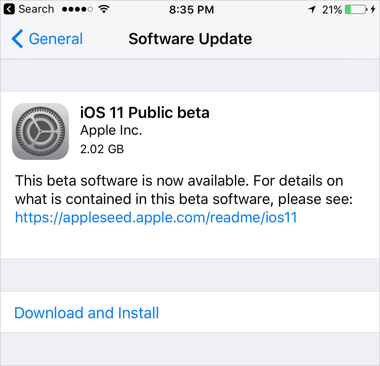 download and install ios 11 public beta