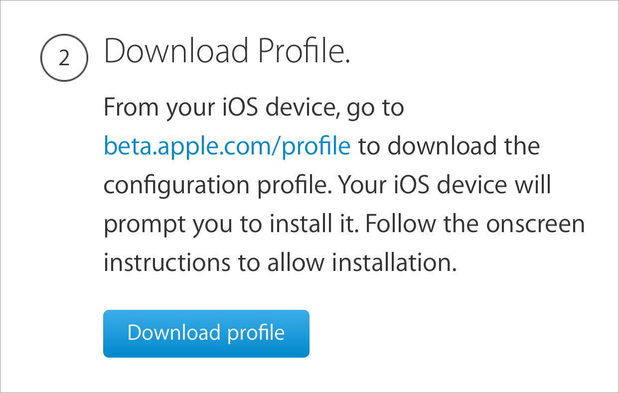 download ios profile